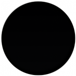 Plain Black 58mm Fridge Magnet